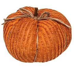 Orange Chenille Pumpkin - 9.5 inch