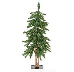Pre-Lit Alpine Christmas Tree - 3 foot