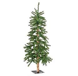 Pre-Lit Alpine Christmas Tree - 6 foot