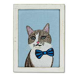 Cat with Bow Tie Wall Art