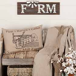 Sawyer Mill Charcoal Plow Pillow 14x22