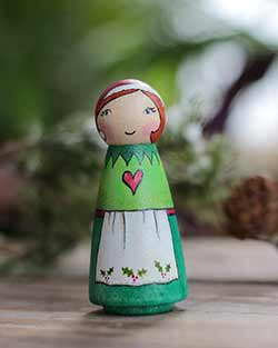 Elf Lady Peg Doll