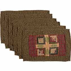 Tea Cabin Quilted Placemats (Set of 6)