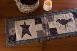 Kettle Grove Star and Crow Tablerunner - 36 inch