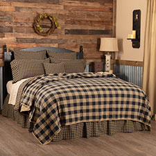 Black Check Bedding