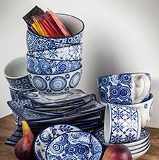 Blue and White Kitchen Decor