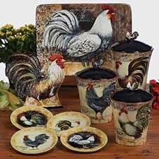 Chicken & Rooster Dinnerware