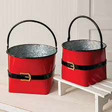Christmas Boxes, Buckets & Other Containers