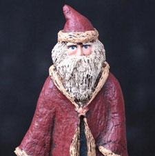 Folk Art Handmade Belsnickle Santas