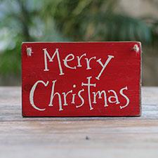 Primitive Christmas Signs