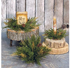 Primitive Christmas Wreaths & Candle Rings