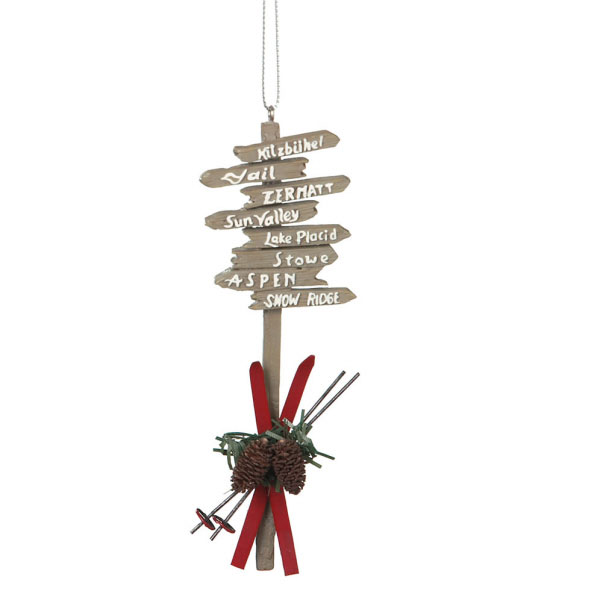 Ski Resort Sign Ornament, by Seasons of Cannon Falls