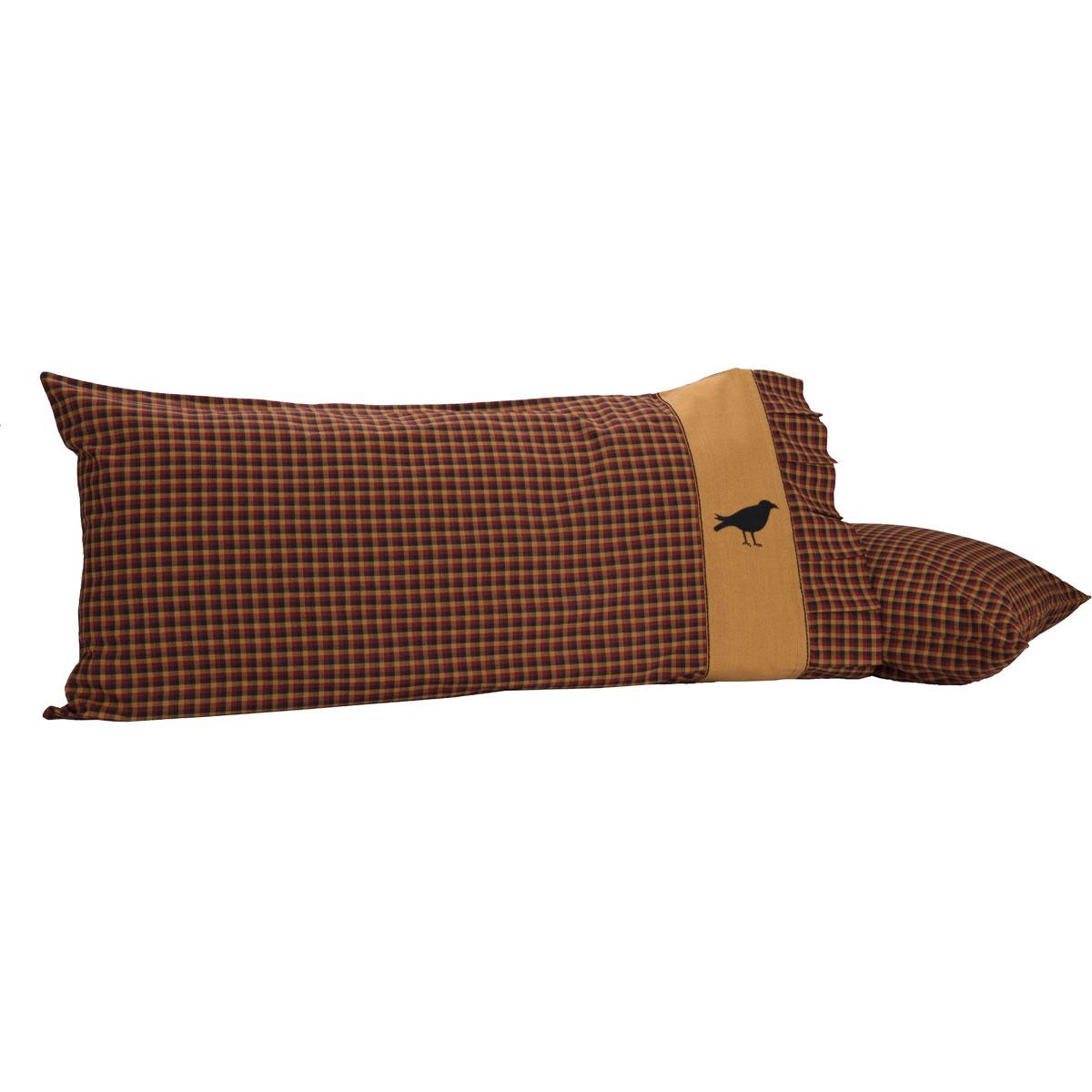 Heritage Farms Crow King Pillow Case Set of 2 21x40