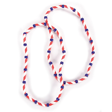 Cut-up paper straw makes great beads for kid's crafts!