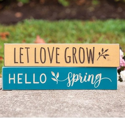Spring wood signs