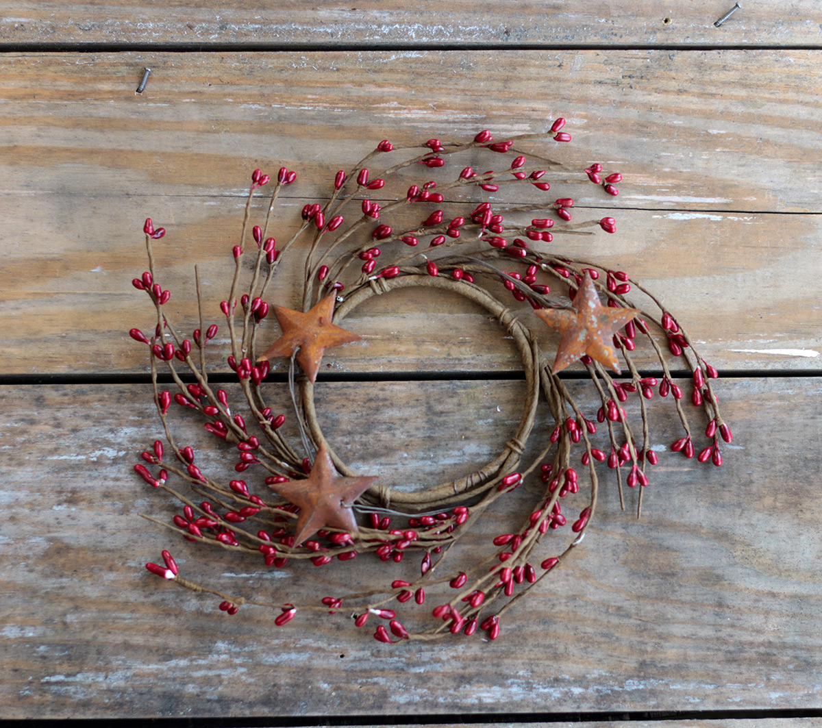 """Americana Pip and Stars Small 6/"""" Wreath Ring"""