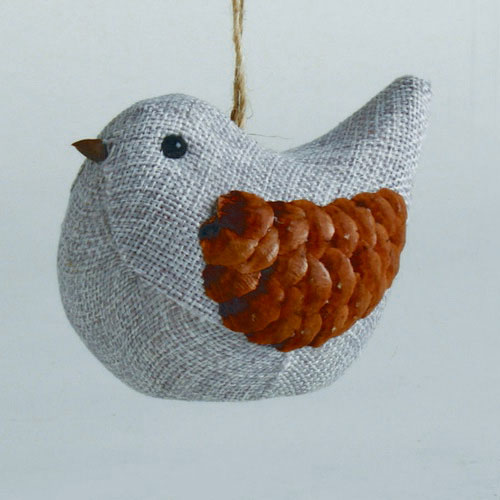 Chalet Bird Ornament, by Tag