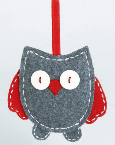 Owl Ornament, by Tag
