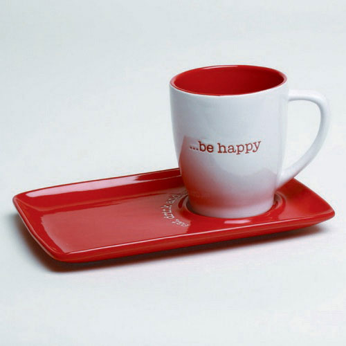 Chalet Plate and Mug Set, by Tag