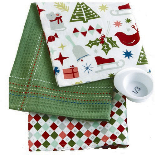 Happy Holidays Dishtowel