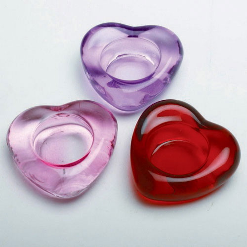 Heart Shaped Glass Tealight, by Tag