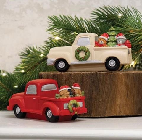 Resin Christmas Trucks