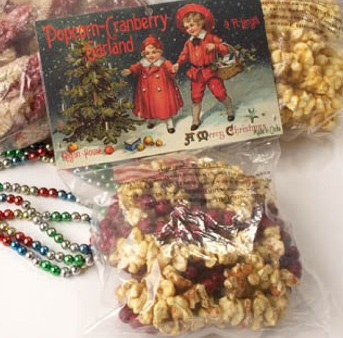 Popcorn & Cranberry Garland, by Ragon House Collection