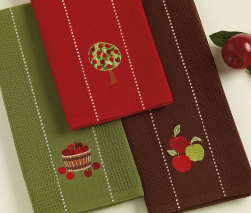 Apple Barrel Embroidered Dishtowel, by DII