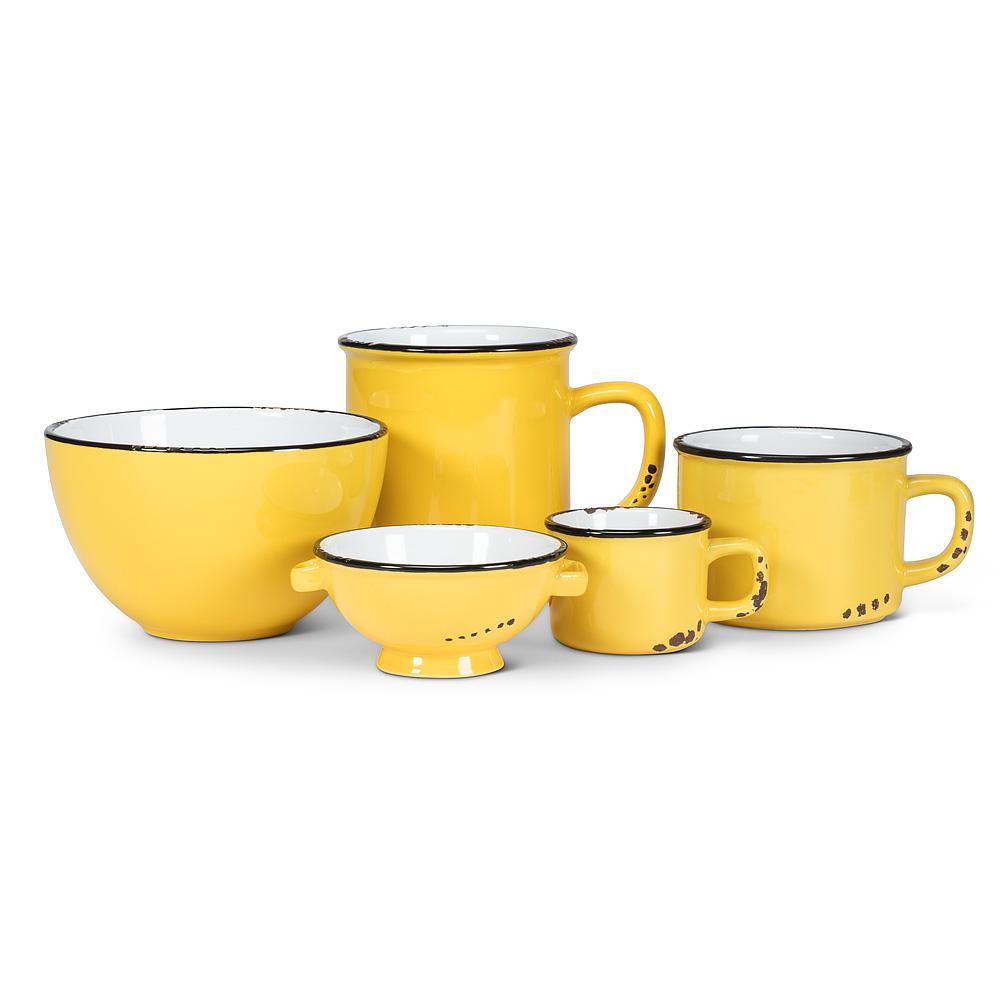 Yellow Stoneware Enamel