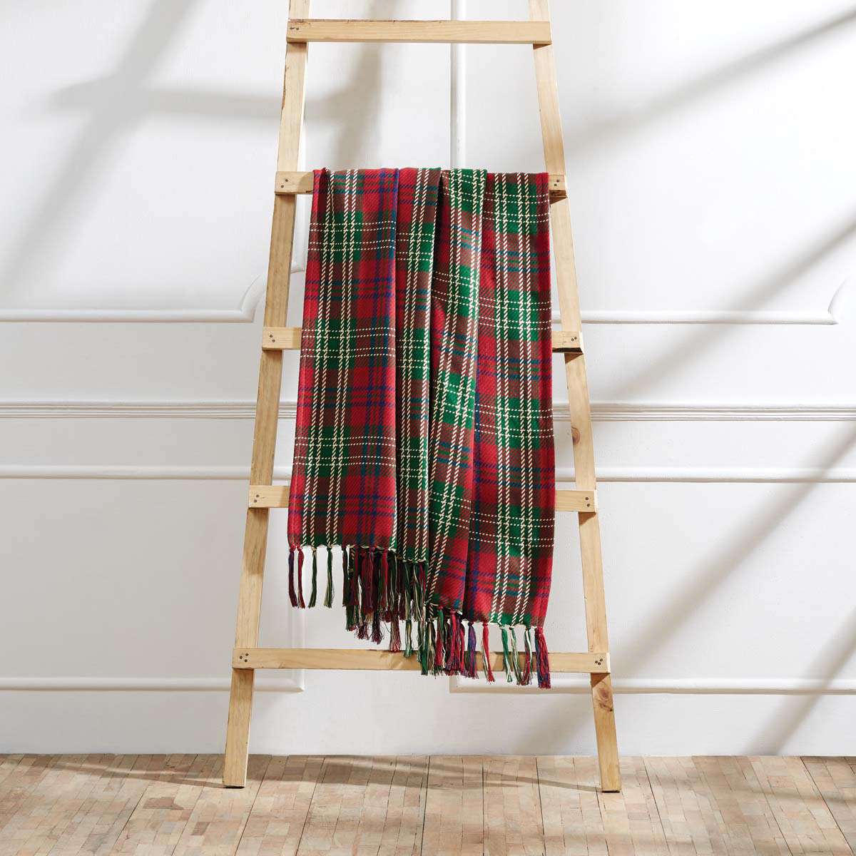 connor plaid woven throw blanket by vhc brands
