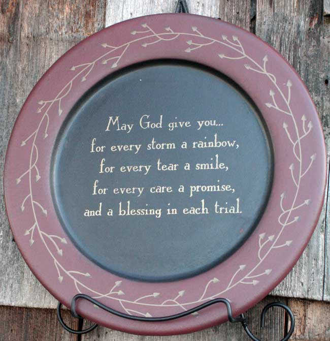 May God Give You Plate, by The Hearthside Collection
