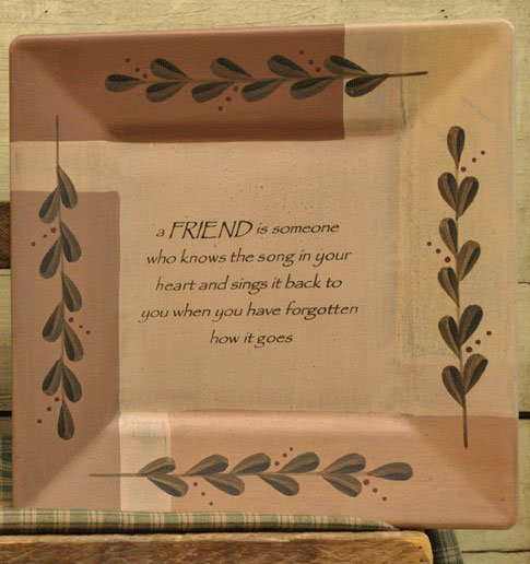 Friends Know the Song Plate, by The Hearthside Collection