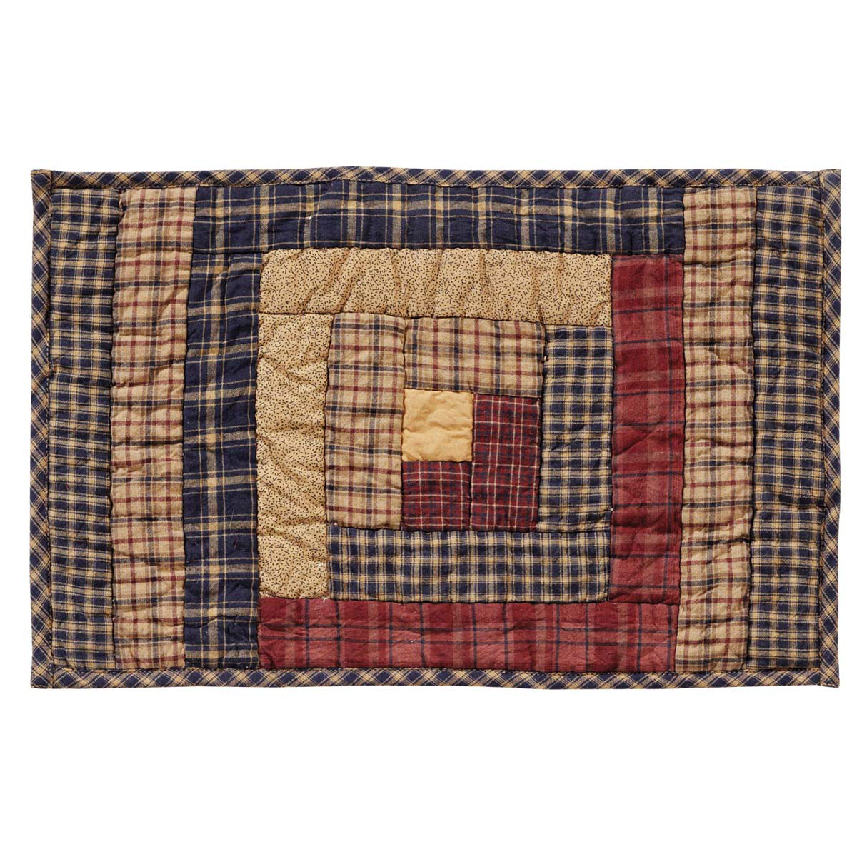 Millsboro Log Cabin Quilted Placemats