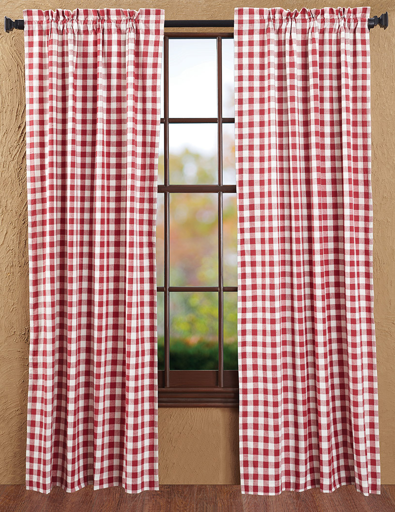 Buffalo Check Red Curtain Panels By Nancy S Nook For
