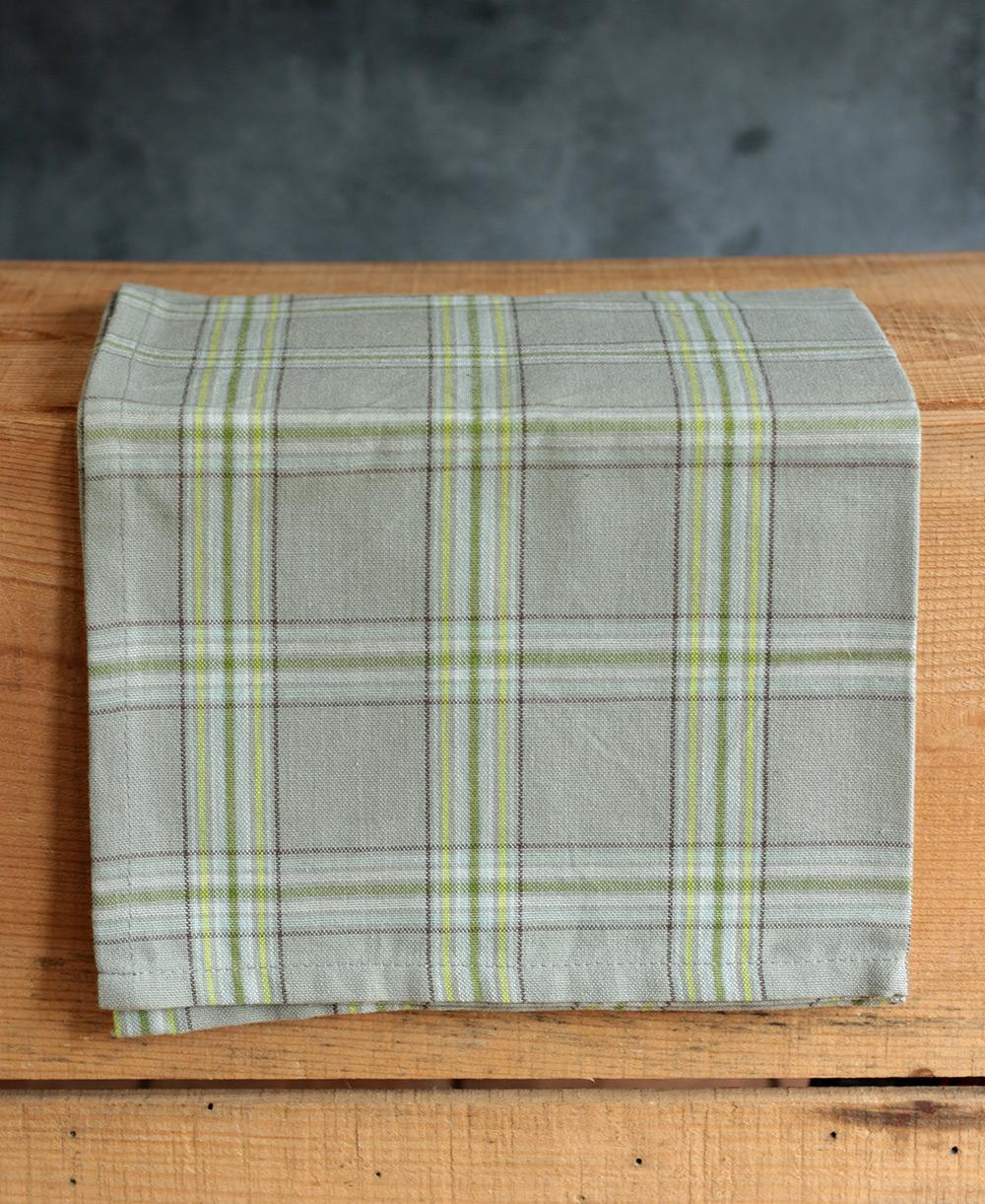 mirage grey plaid kitchen towel,park designs. - the