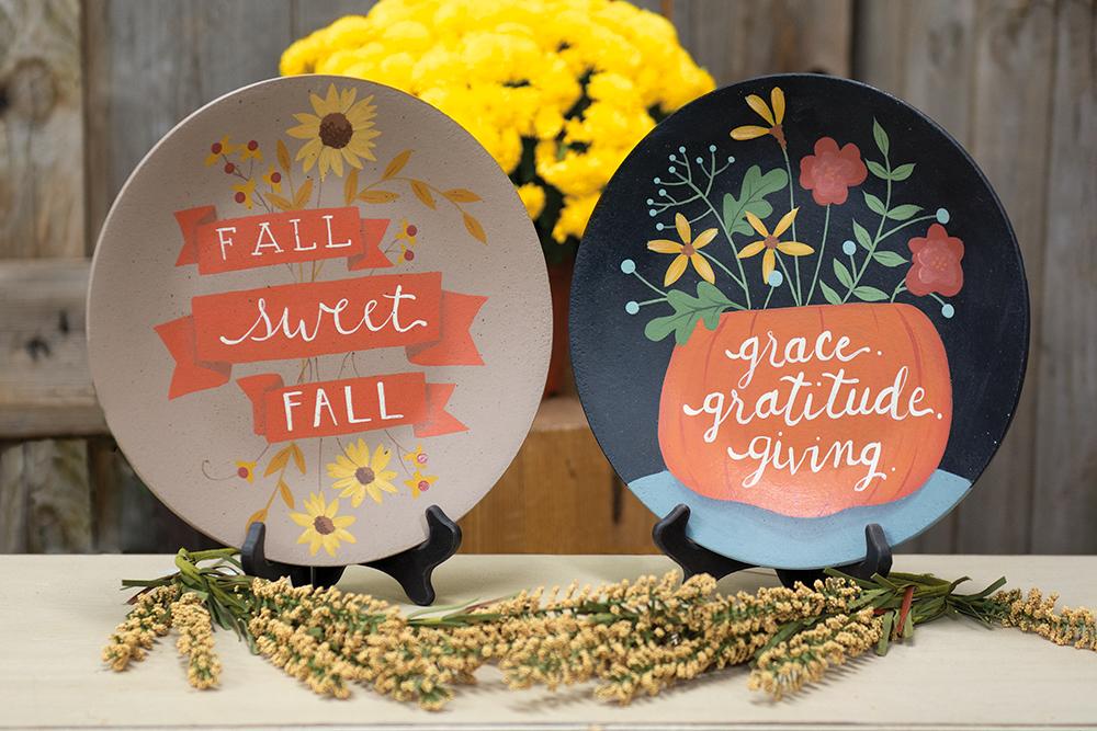 Fall Wood Plates