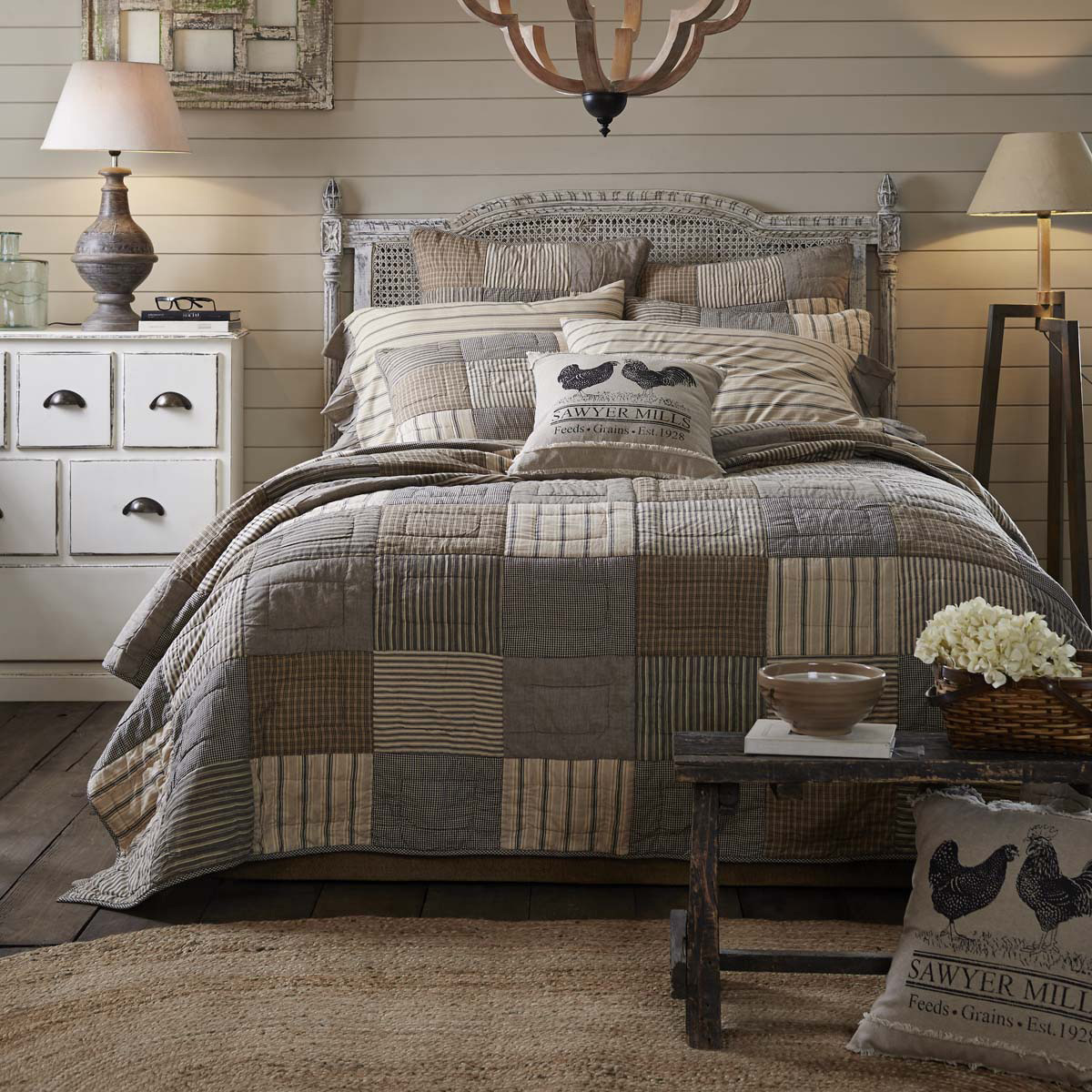 Sawyer Mill Quilt, by VHC Brands.
