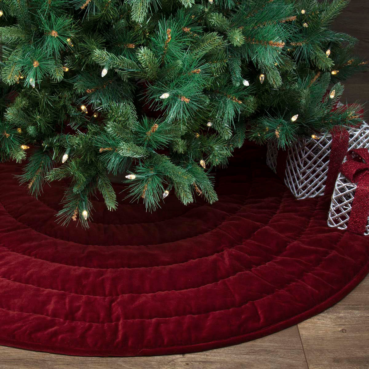 Red Velvet Christmas Tree Skirt, by VHC Brands. - The Weed Patch