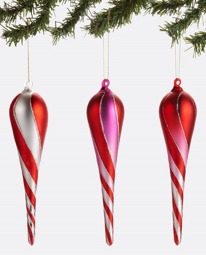 Drop Swirl Glass Ornament