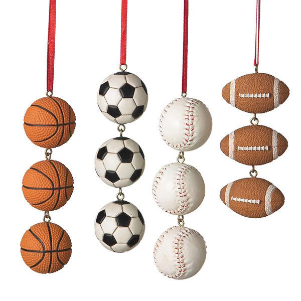 Sports Ball Swag Ornament, by Seasons of Cannon Falls