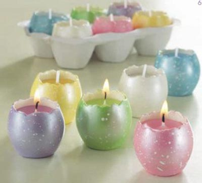 Cracked Egg Candle, by Tag