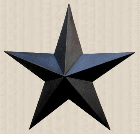 Primitive Wall Star, 24 inch - Black
