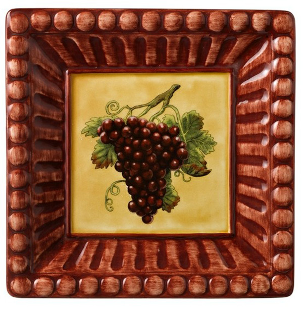 Meritage Appetizer Plate - Red Grapes