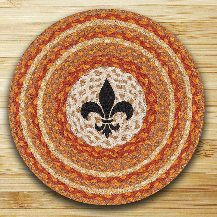 Fleur De Lis Round Braided Placemat By Capitol Earth Rugs