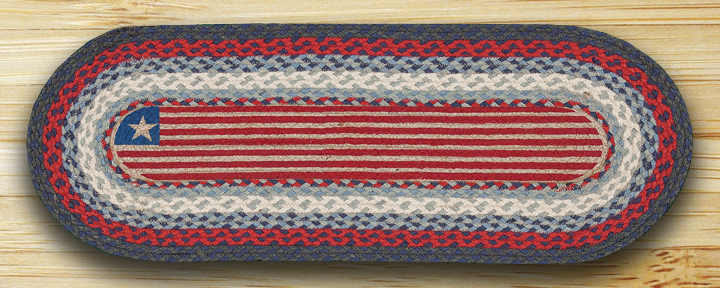 48 inch Flag Braided Jute Table Runner, by Capitol Earth Rugs