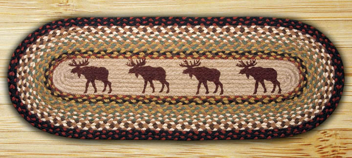 48 inch Moose Braided Jute Table Runner, by Capitol Earth Rugs