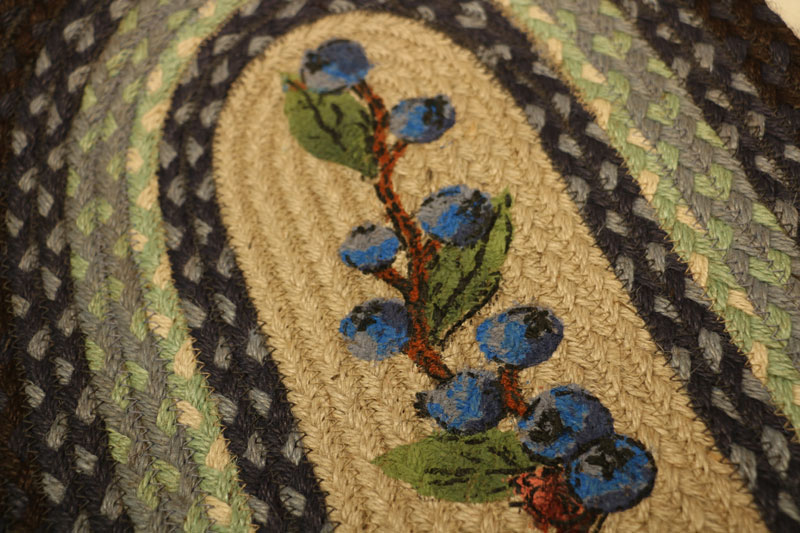 Blueberry Braided Jute Tablerunner, by Capitol Earth Rugs.
