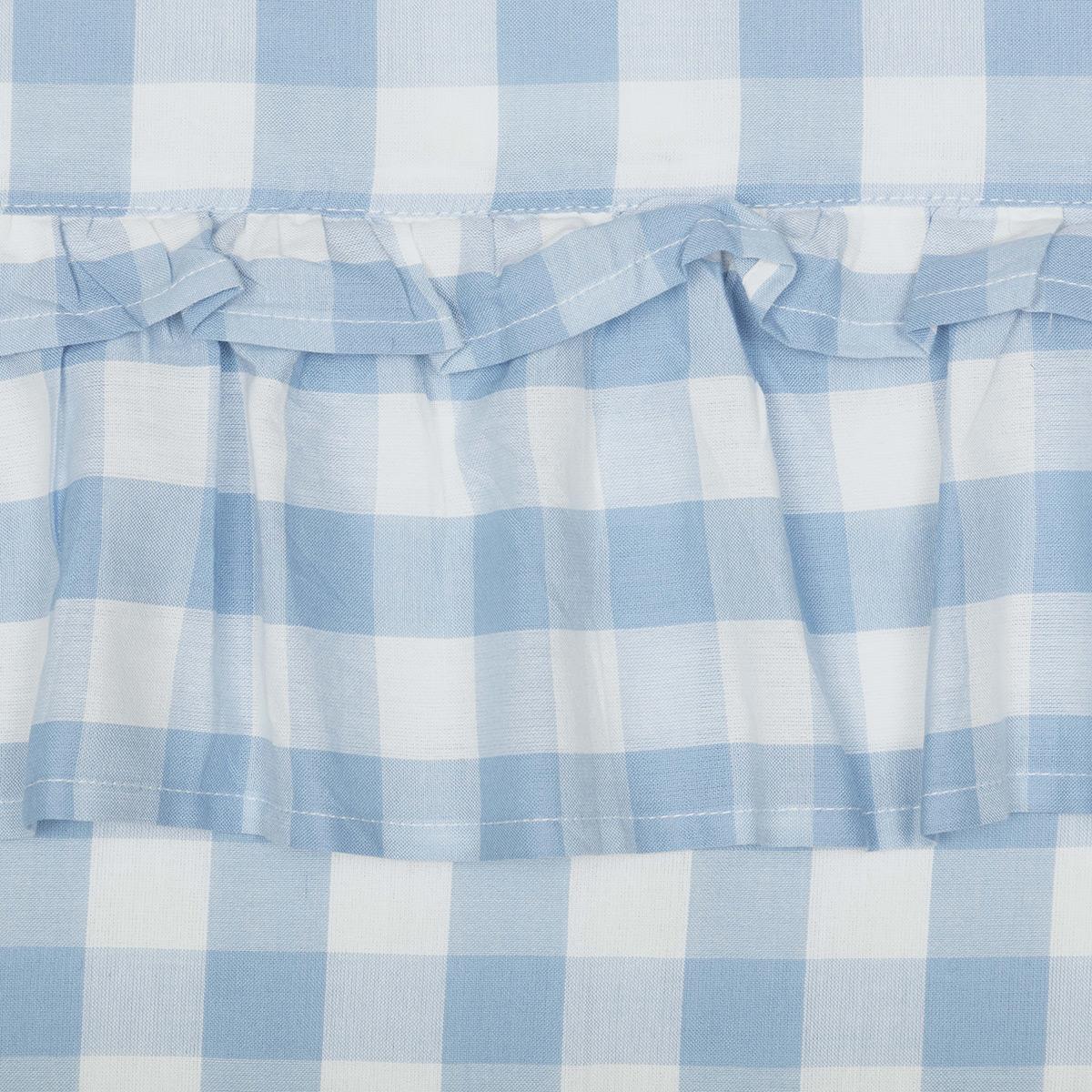 Annie Buffalo Check Blue Fabric