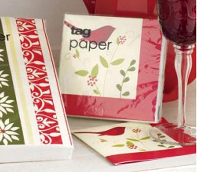 Cardinal & Sprig Paper Cocktail Napkins