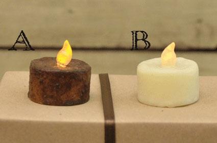 Burnt Mustard Battery Tealight, by Hearthside